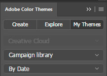 Photoshop Access themes saved to your libraries