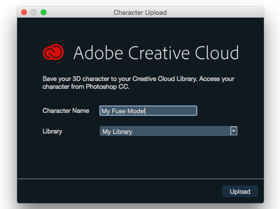 Adobe Fuse and Creative Cloud libraries