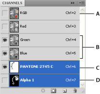 Photoshop Select multiple channels