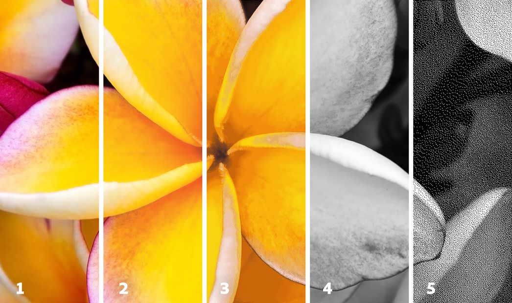 Photoshop Examples of different color modes