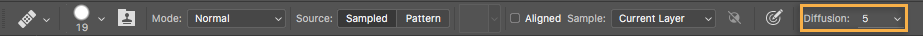 Photoshop Diffuser slider control