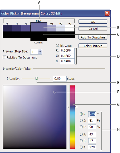 Photoshop HDR Color Picker