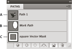 Photoshop Paths panel