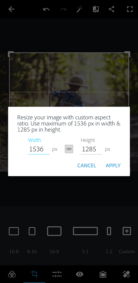 Using Photoshop Express on iOS, Android, and Windows mobile devices