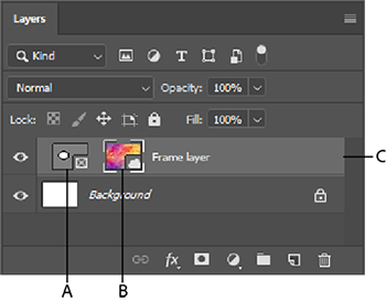 Frame layer in the Layers panel