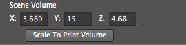 Photoshop Scene volume dimensions