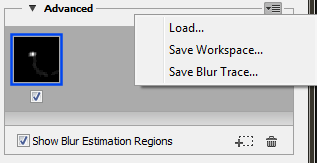 Photoshop Save and load blur traces