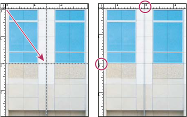 Photoshop Dragging rulers