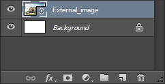 Photoshop Linked Smart Object in Layers panel