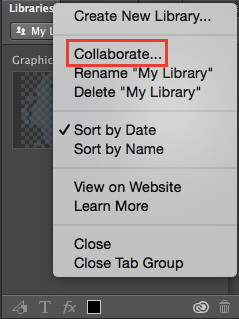Photoshop collaborate on libraries
