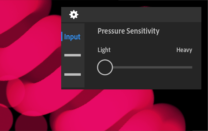 Pencil pressure sensitivity