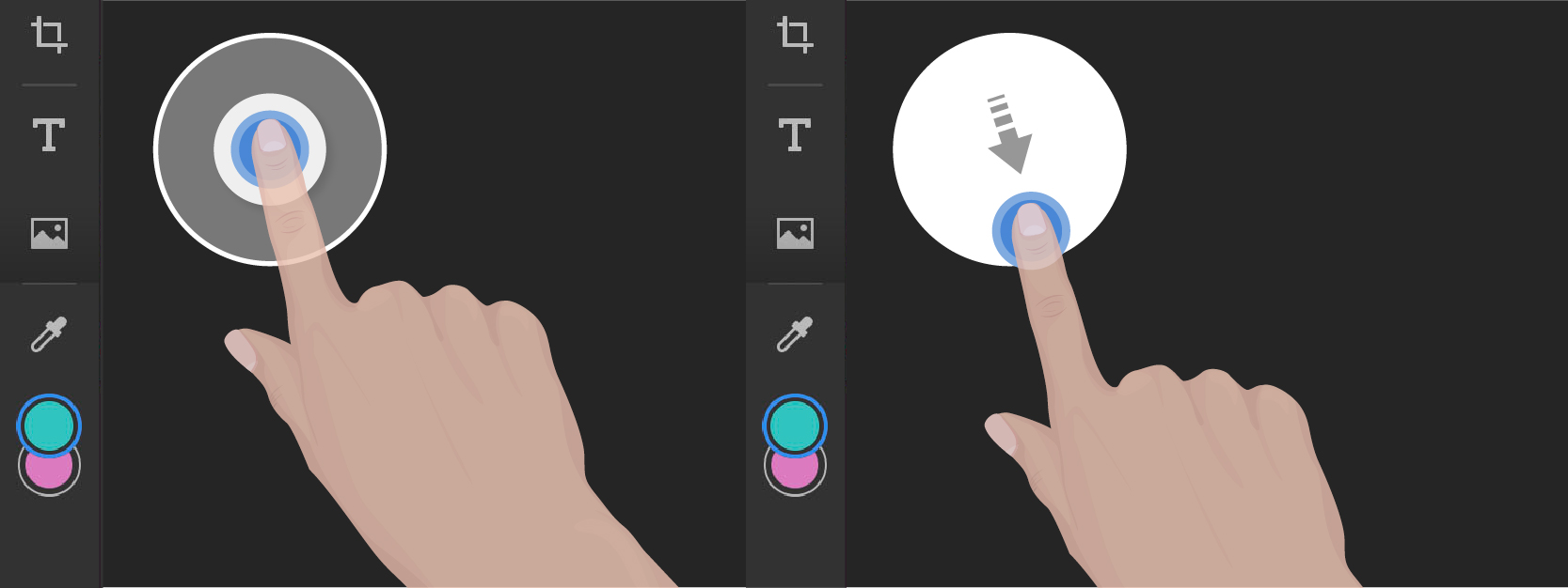 Touch shortcuts for Brush tool