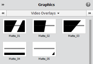 Video Overlays panel