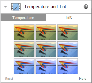 Temperature and Tint