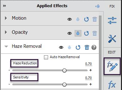 Haze Removal using Adobe Premiere Elements