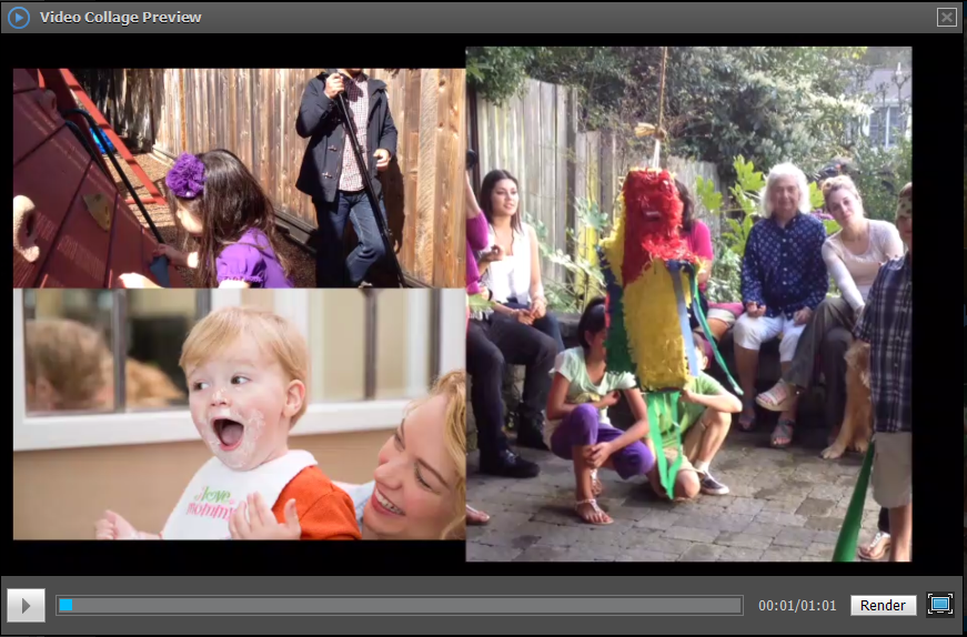 Video collage preview