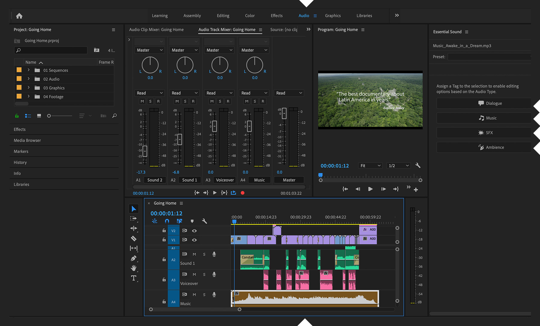 How To Create An Audio Mix Adobe Premiere Pro Tutorials