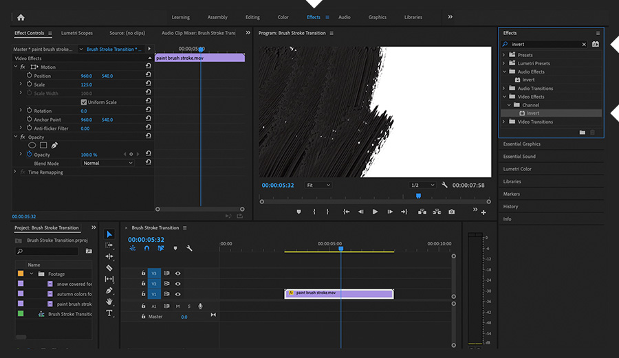 Create an ink transition effect | Tutoriales de Adobe
