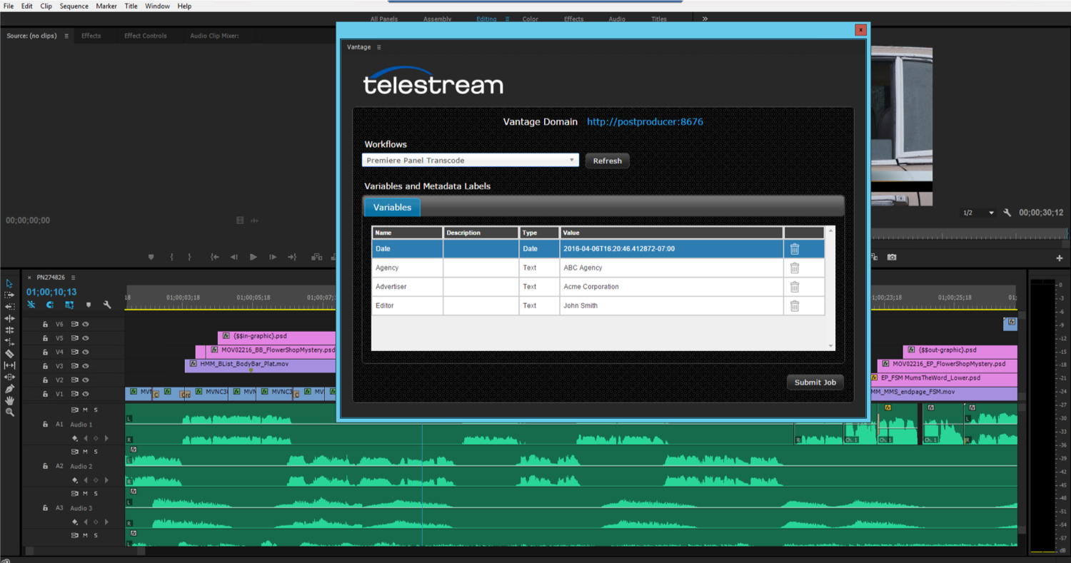 Telestream Vantage automates transcoding and QC workflows