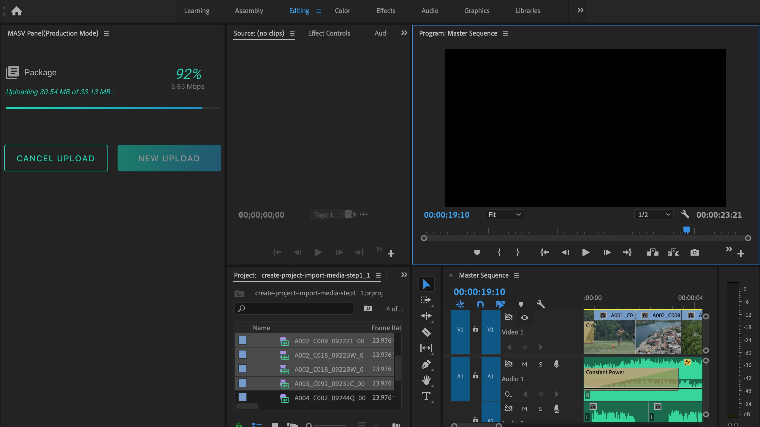 MASV provides rapid file transfers directly from Premiere Pro.