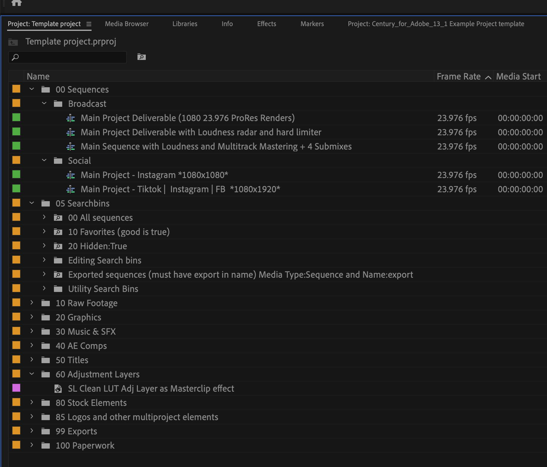 如何制作PR模板 Premiere Pro 项目模板创建教程-MOGRT