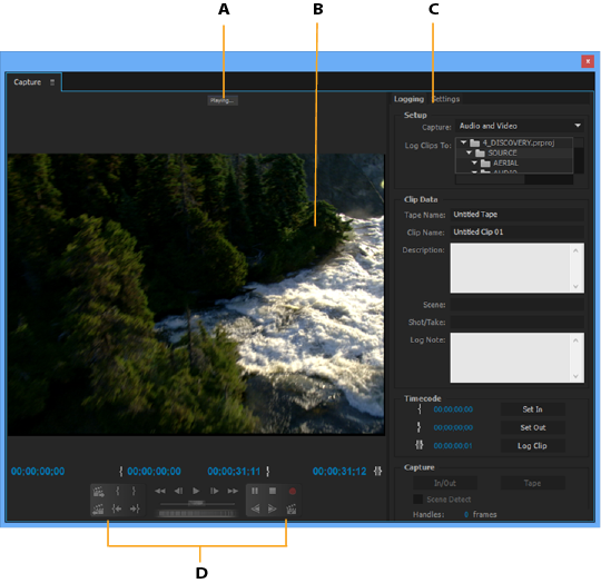 premiere pro capture format Capturing and digitizing footage in Premiere Pro