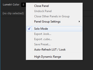 Export Looks, LUTs, and save presets