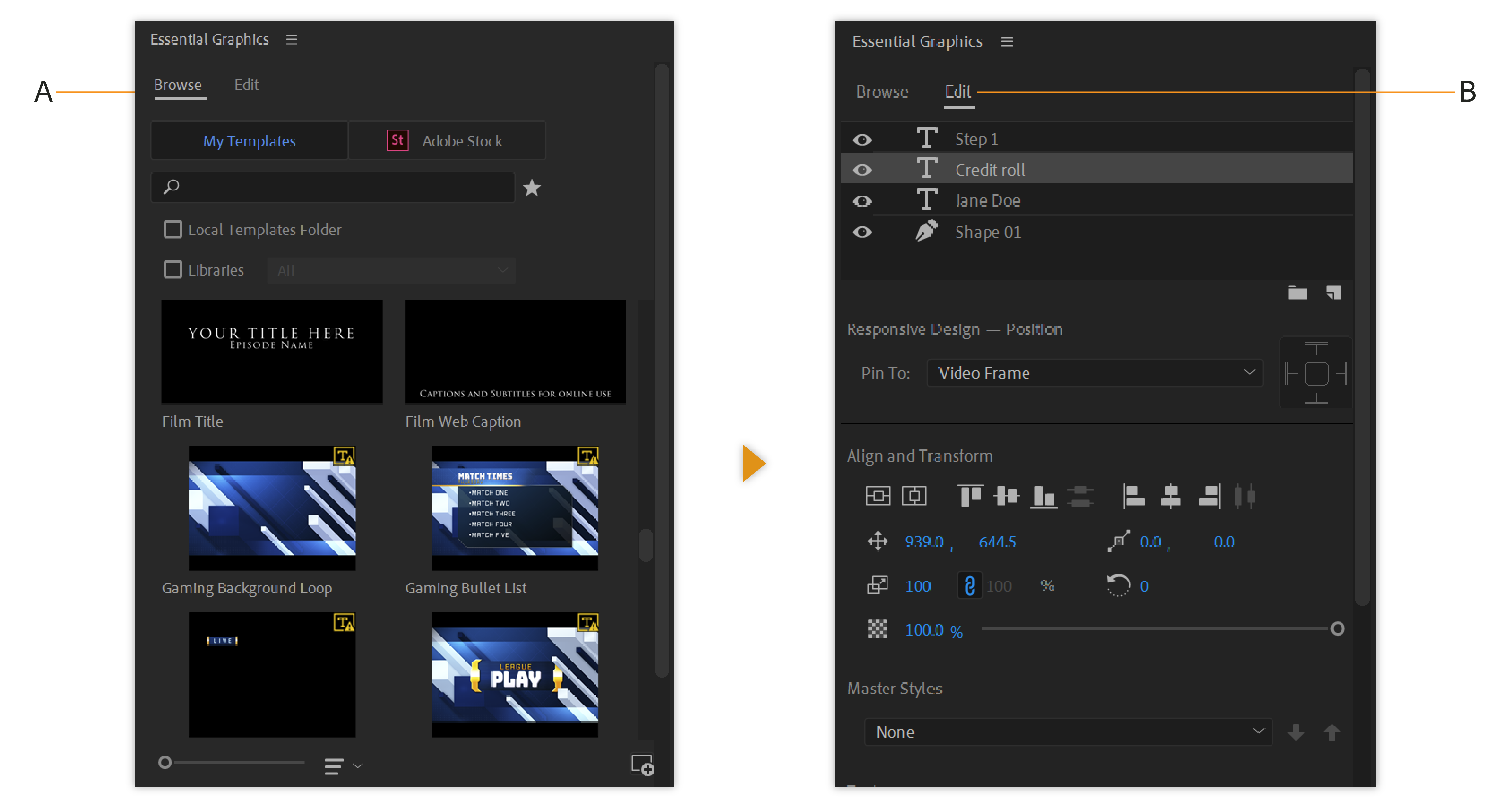 Create Titles And Motion Graphics With The Graphics Workspace In Premiere Pro