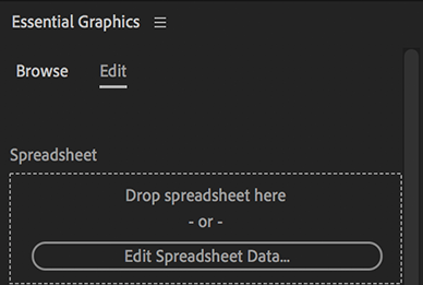 Drop a spreadsheet or edit existing spreadsheet data