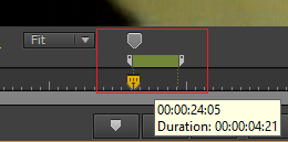 Setting Marker duration in the Program Monitor