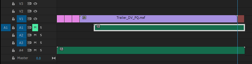 Edited clip in the Premiere Pro timeline