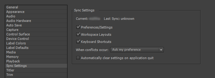Setting Sync preferences