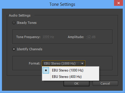 Tone Settings dialog box