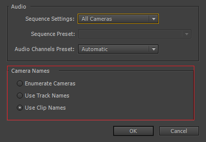 Source Sequence options