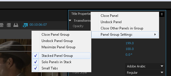 Stacked Panel layout option