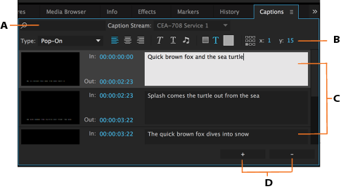 Learn to work with captions in premiere pro captions panel in premiere pro ccuart Image collections