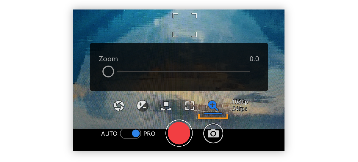 Zoom option in Premiere Rush
