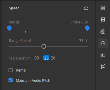Changing the clip duration