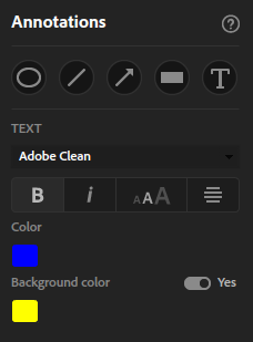 Text annotation options