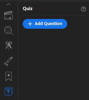 Add quiz questions to your video presentations in Presenter Video