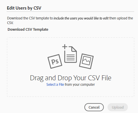 Edit Users by CSV