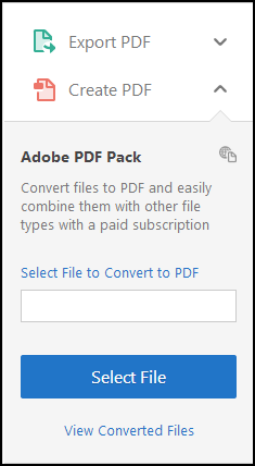 Create PDF from the right hand pane