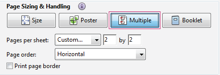 Print multiple pages on a sheet