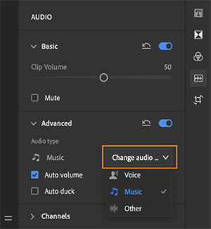 Classify the selected audio clip