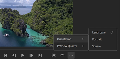 Change video aspect ratio