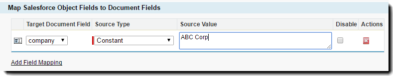 Type in a Constant if the value is Constant