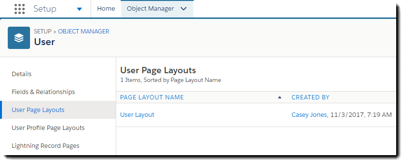User Page Layouts