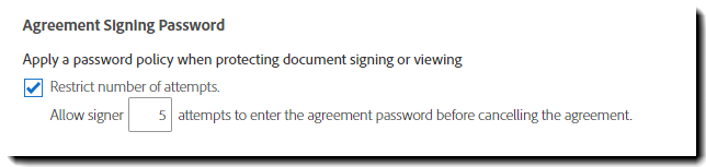 Agreement Signing Password