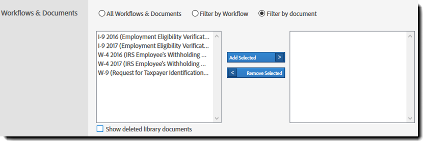 Report parameter - Documents & Workflows
