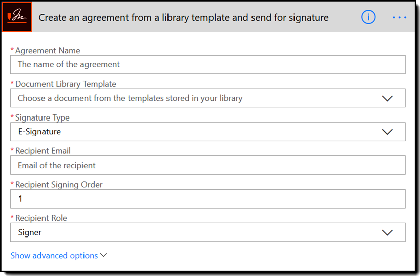 Create an agreement from a library template and send for signature - Rebranded